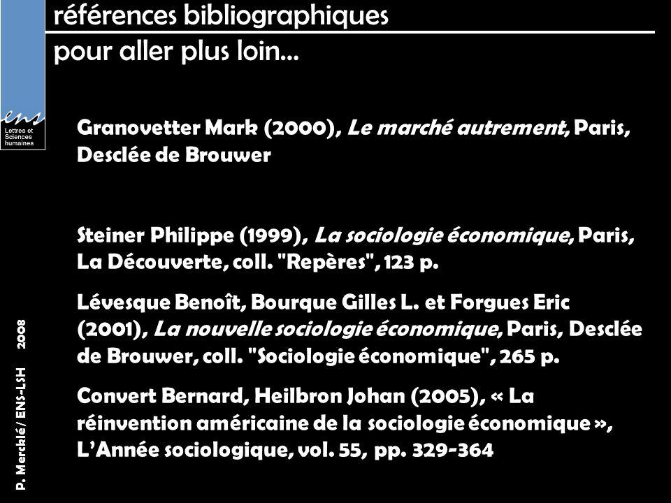références bibliographiques pour aller plus loin…