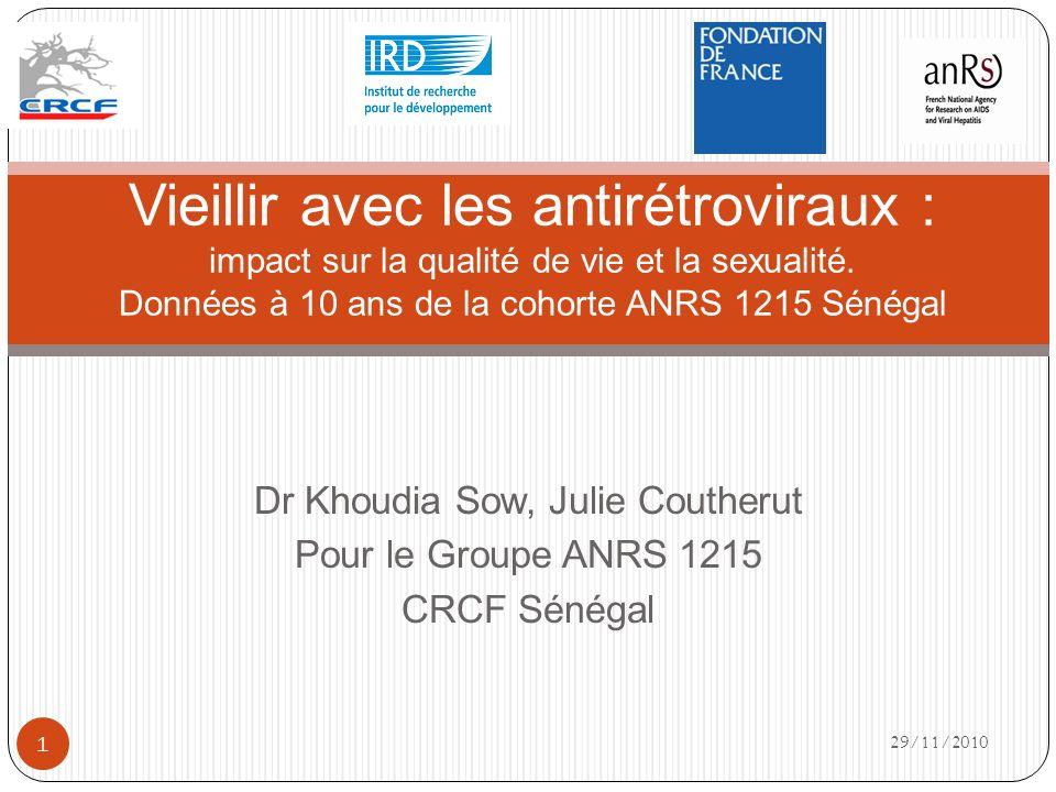 Dr Khoudia Sow, Julie Coutherut Pour le Groupe ANRS 1215 CRCF Sénégal