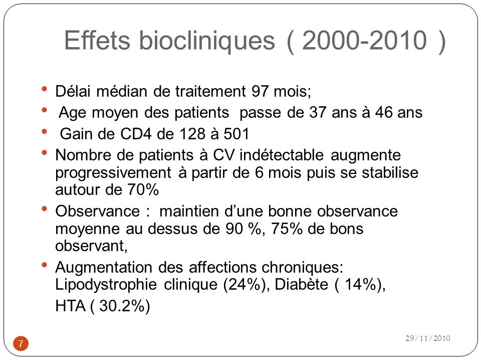 Effets biocliniques ( 2000-2010 )