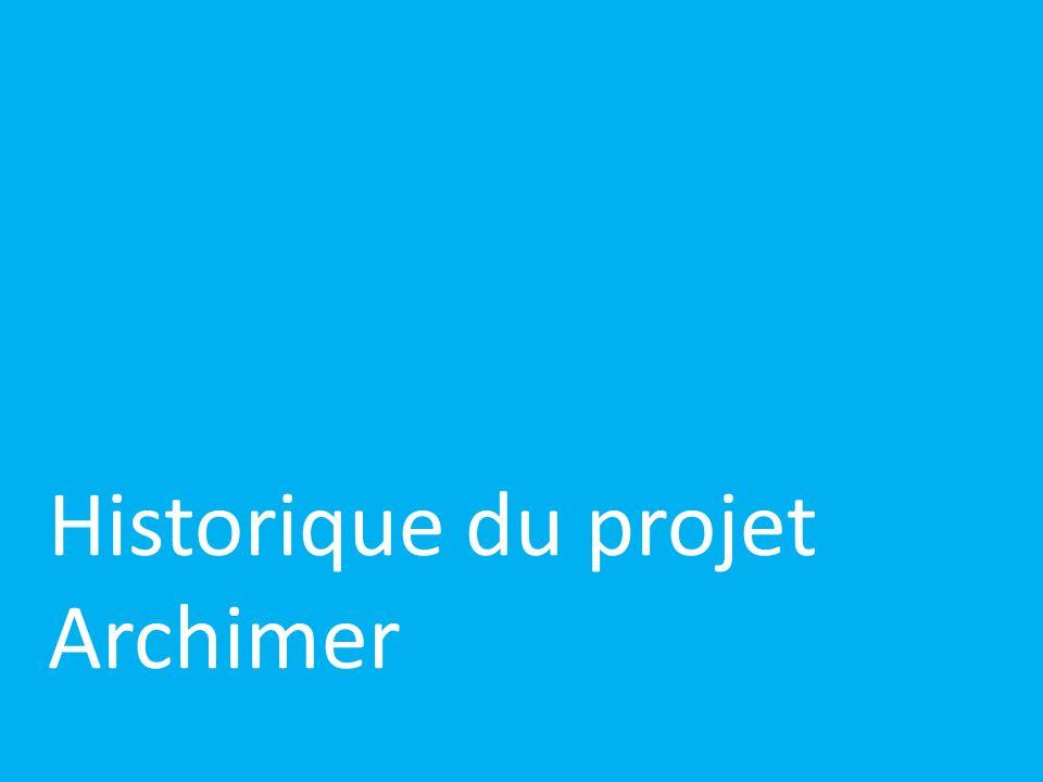Historique du projet Archimer