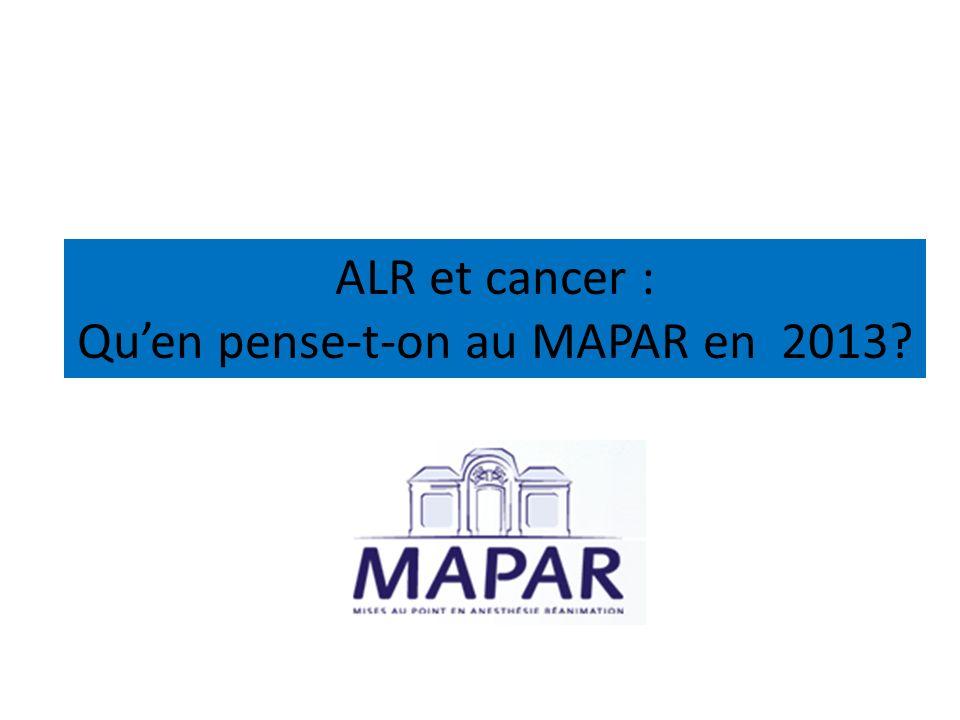 Qu'en pense-t-on au MAPAR en 2013