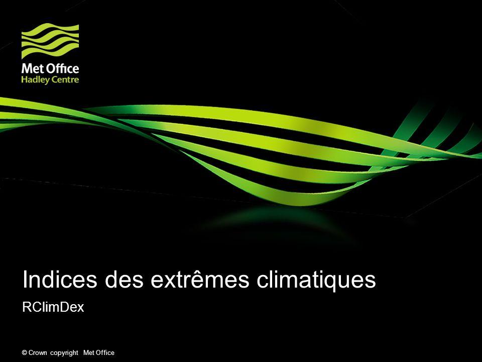 Indices des extrêmes climatiques