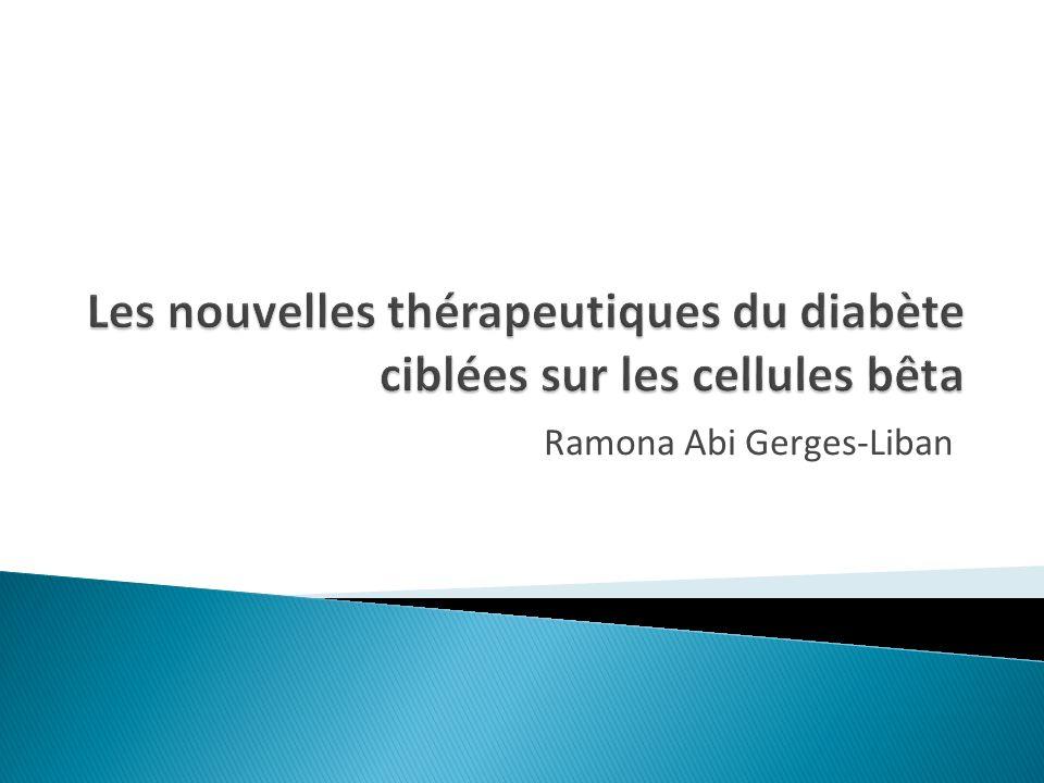 Les nouvelles thérapeutiques du diabète ciblées sur les cellules bêta