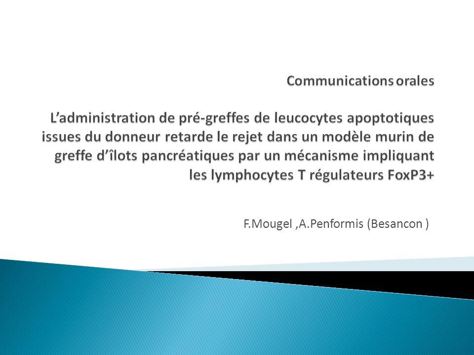 F.Mougel ,A.Penformis (Besancon )