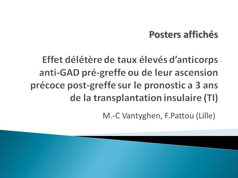 M.-C Vantyghen, F.Pattou (Lille)