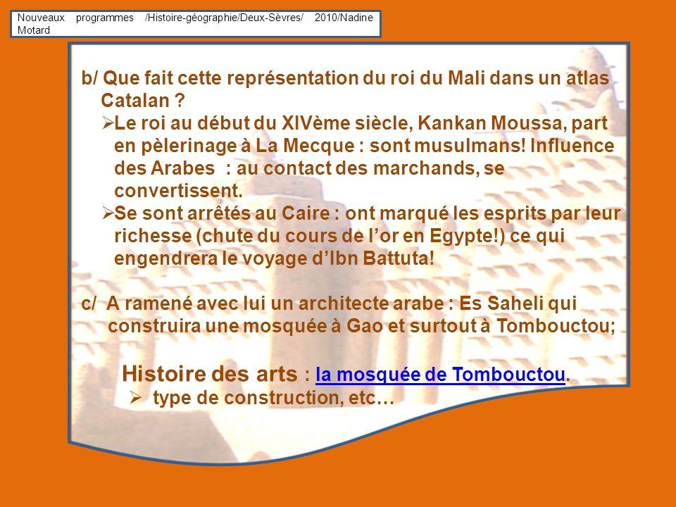 Histoire des arts : la mosquée de Tombouctou.