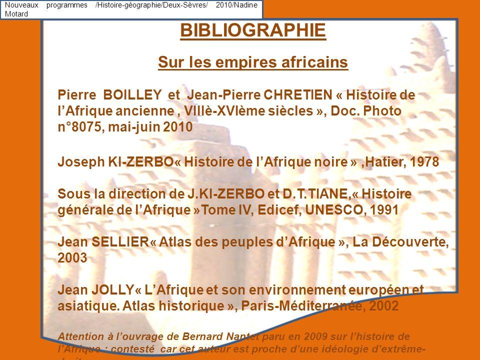 Sur les empires africains