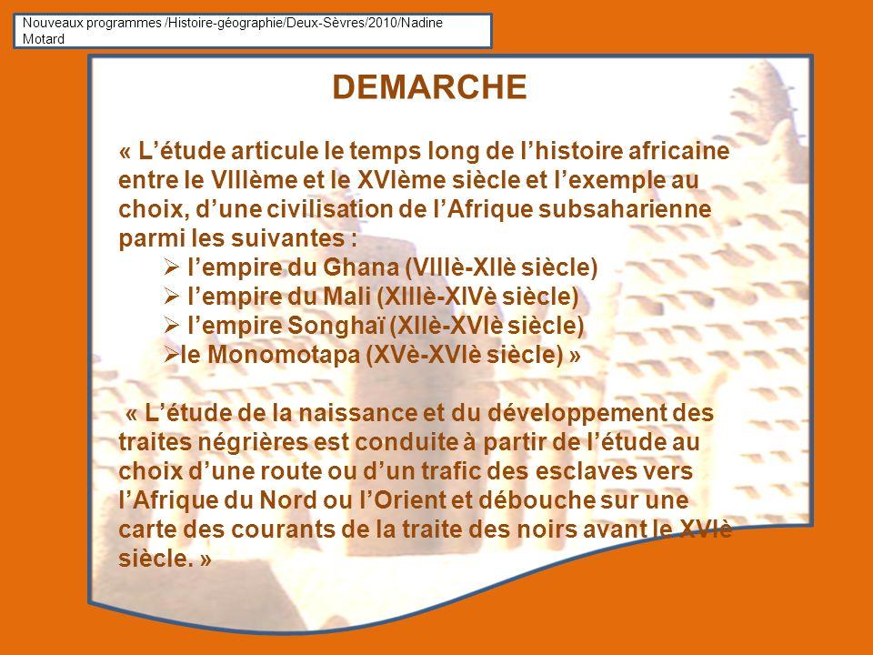 Nouveaux programmes /Histoire-géographie/Deux-Sèvres/2010/Nadine Motard