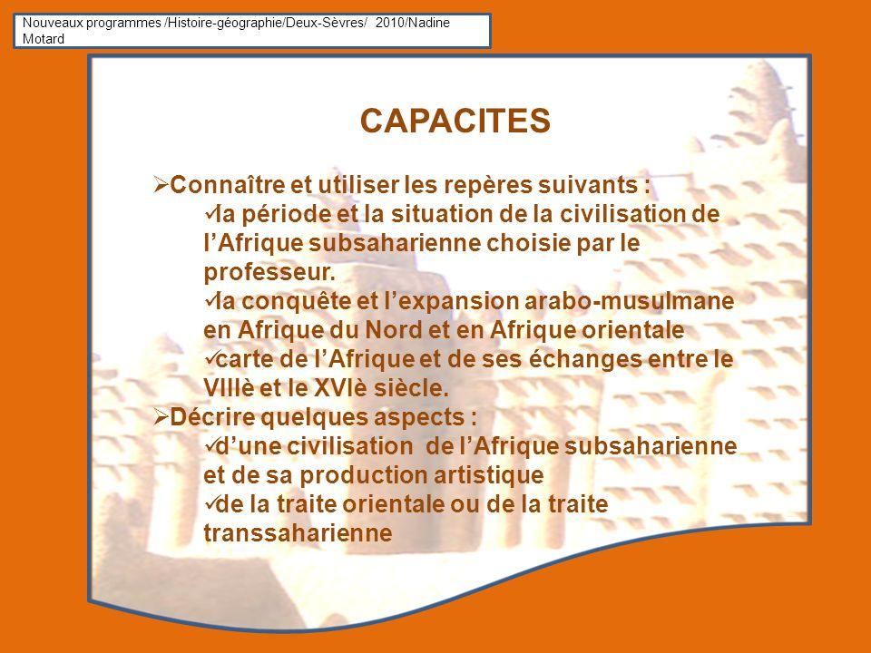CAPACITES Connaître et utiliser les repères suivants :