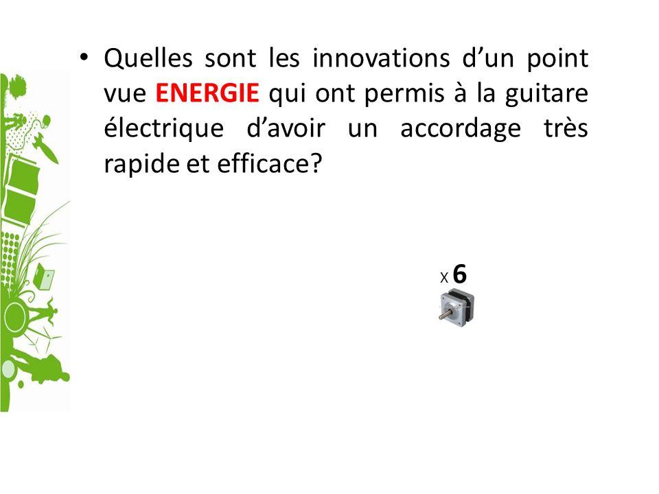 Quelles sont les innovations d'un point vue ENERGIE qui ont permis à la guitare électrique d'avoir un accordage très rapide et efficace