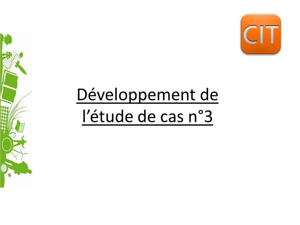 Développement de l'étude de cas n°3