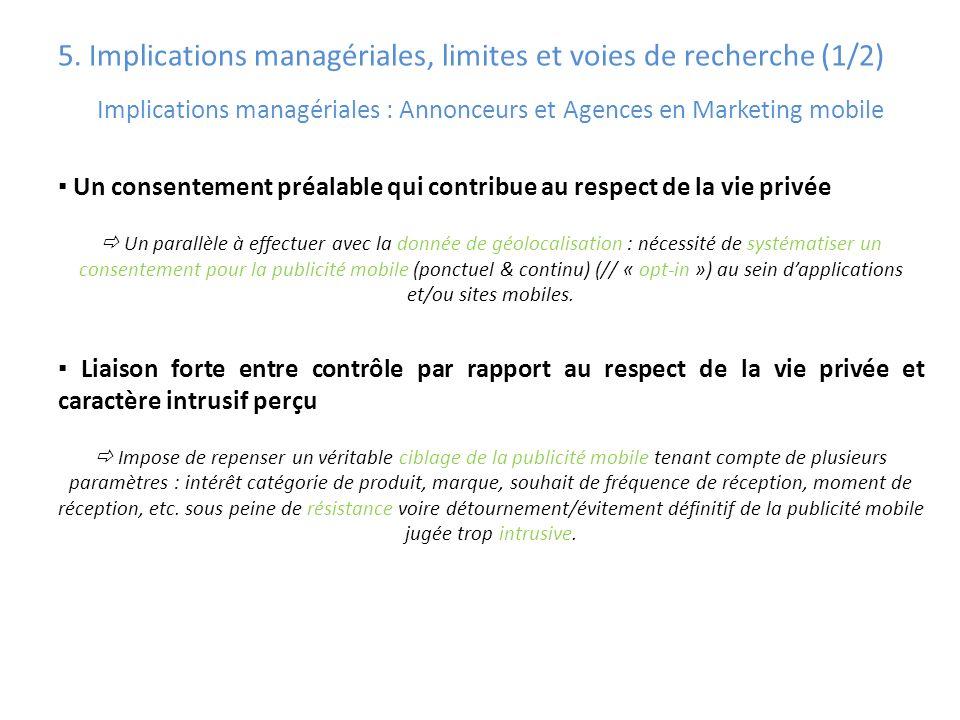 5. Implications managériales, limites et voies de recherche (1/2)