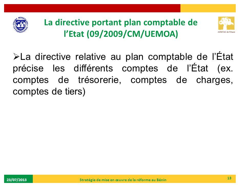 La directive portant plan comptable de l'Etat (09/2009/CM/UEMOA)