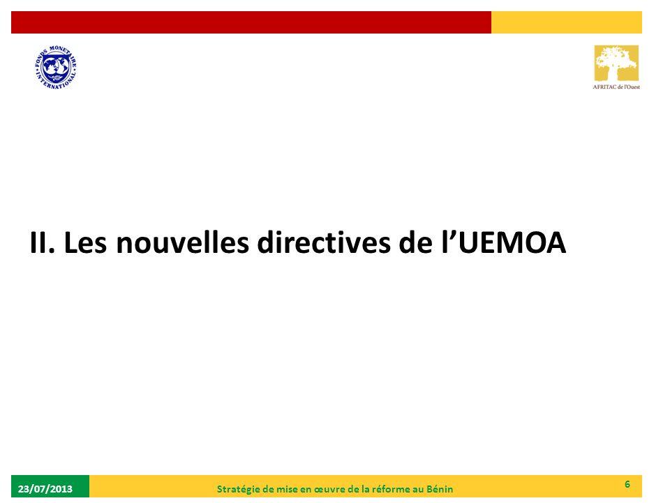 Stratégie de mise en œuvre de la réforme au Bénin