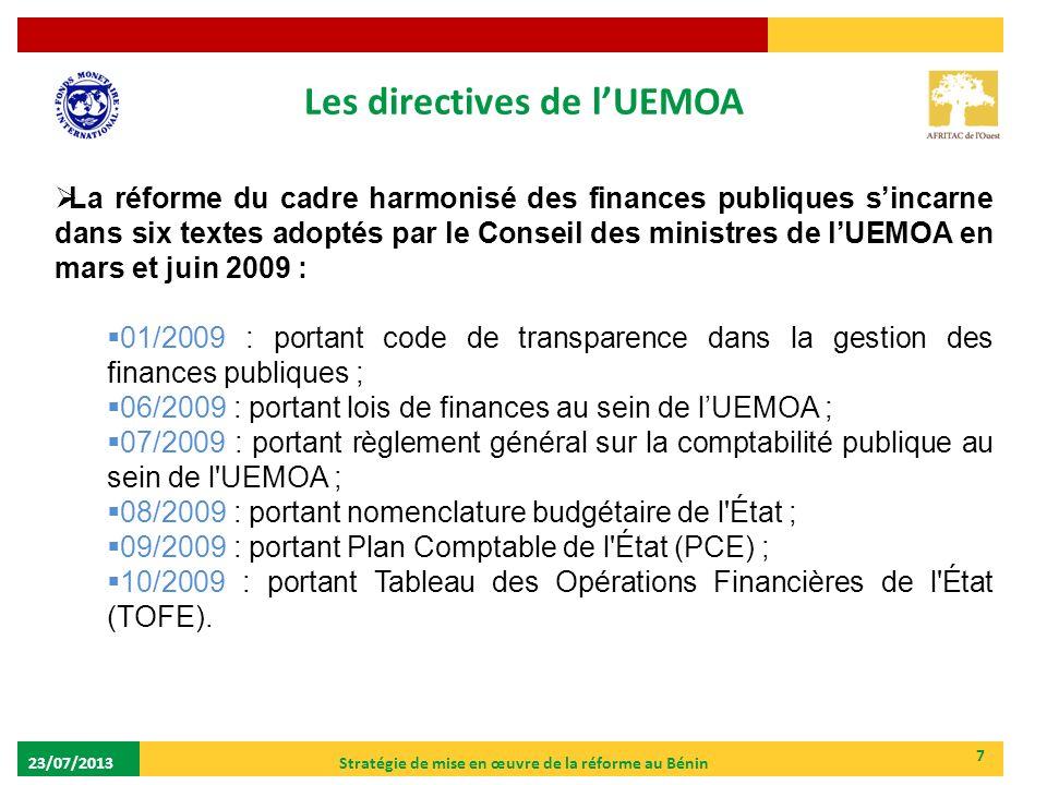 Les directives de l'UEMOA