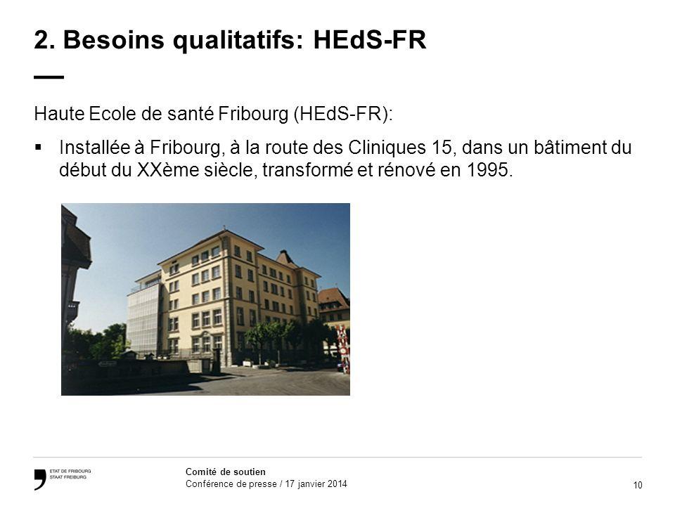 2. Besoins qualitatifs: HEdS-FR —