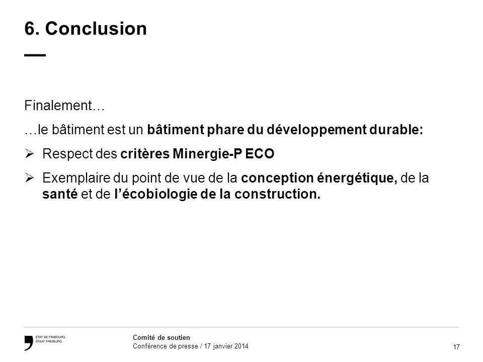 6. Conclusion — Finalement…