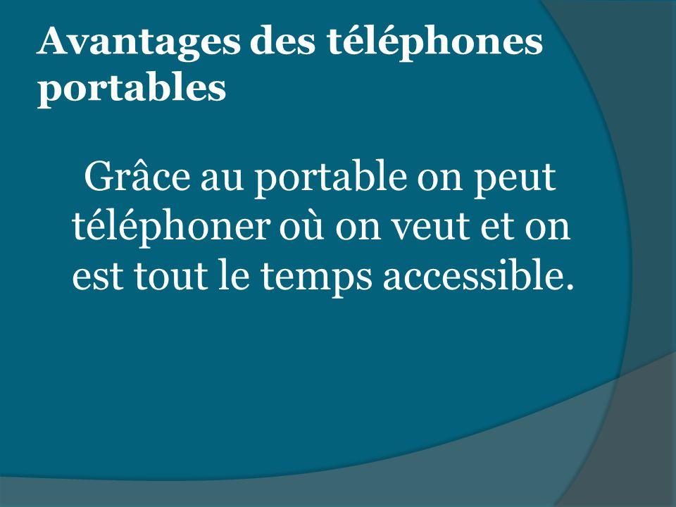 Avantages des téléphones portables