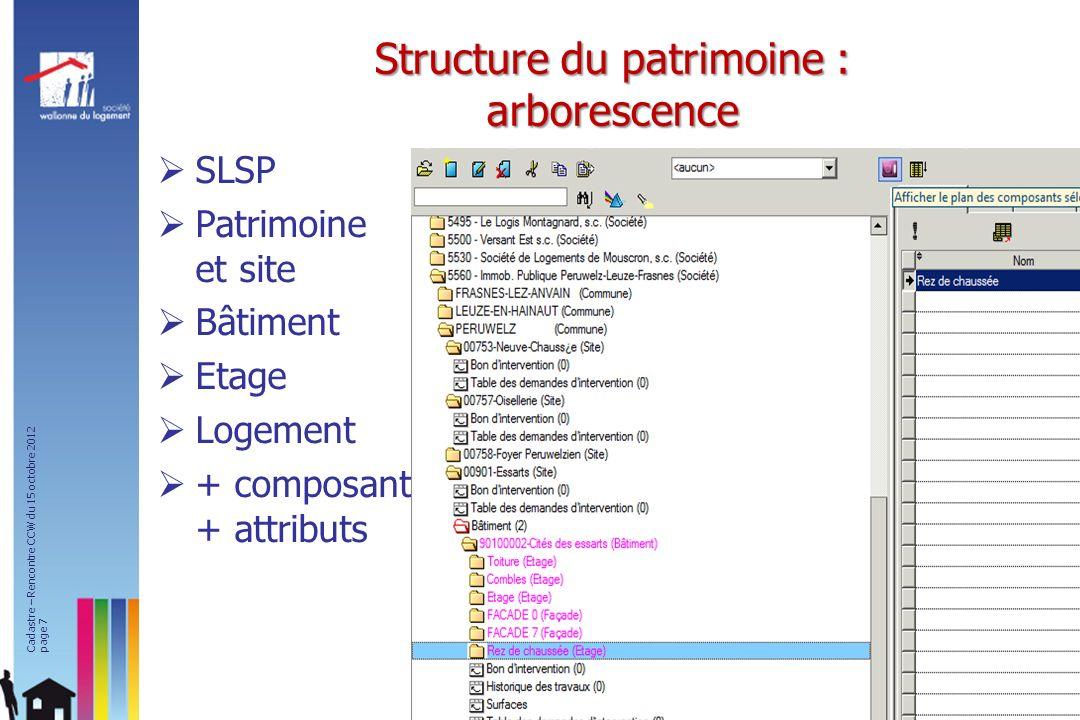 Structure du patrimoine : arborescence
