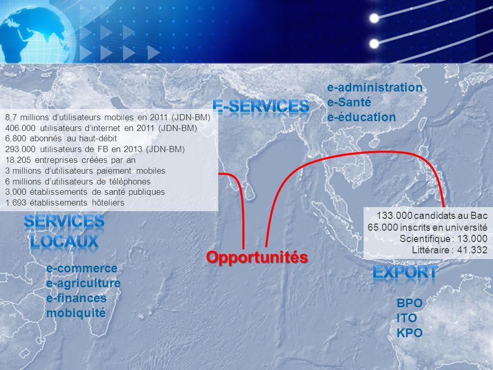 E-services SERVICES LOCAUX Opportunités export