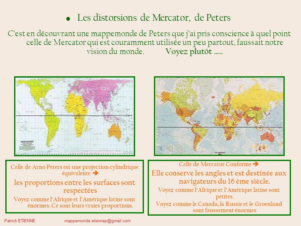 Les distorsions de Mercator, de Peters