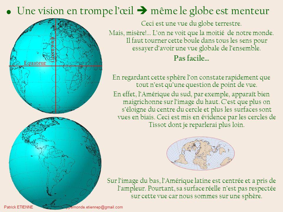 Une vision en trompe l'œil  même le globe est menteur