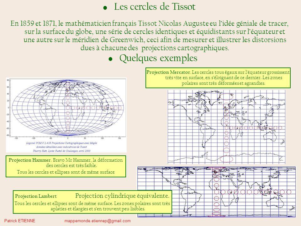Les cercles de Tissot Quelques exemples