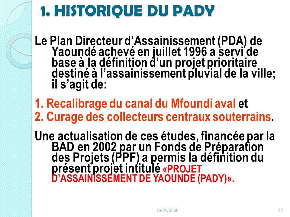 1. HISTORIQUE DU PADY