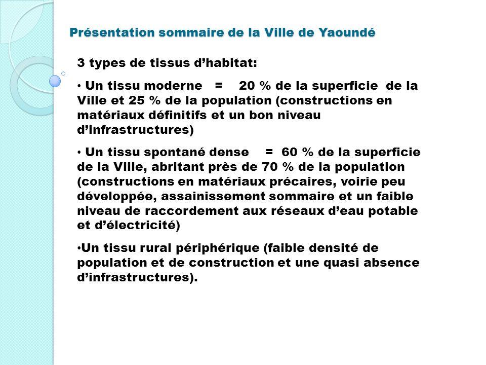 Présentation sommaire de la Ville de Yaoundé