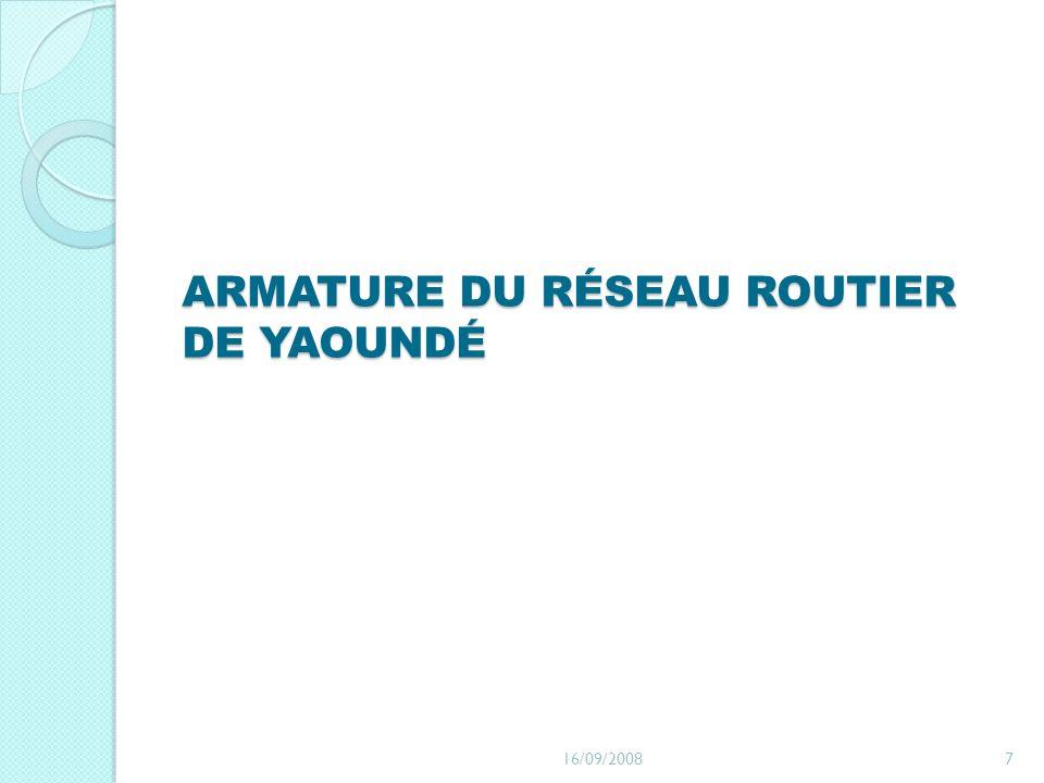 ARMATURE DU RÉSEAU ROUTIER DE YAOUNDÉ