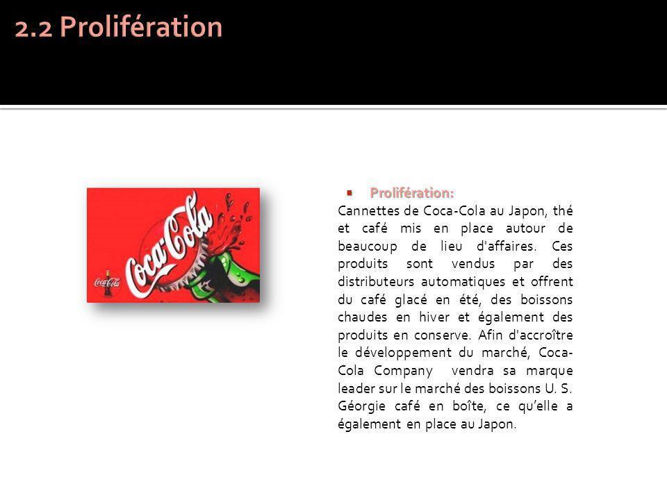 2.2 Prolifération Prolifération: