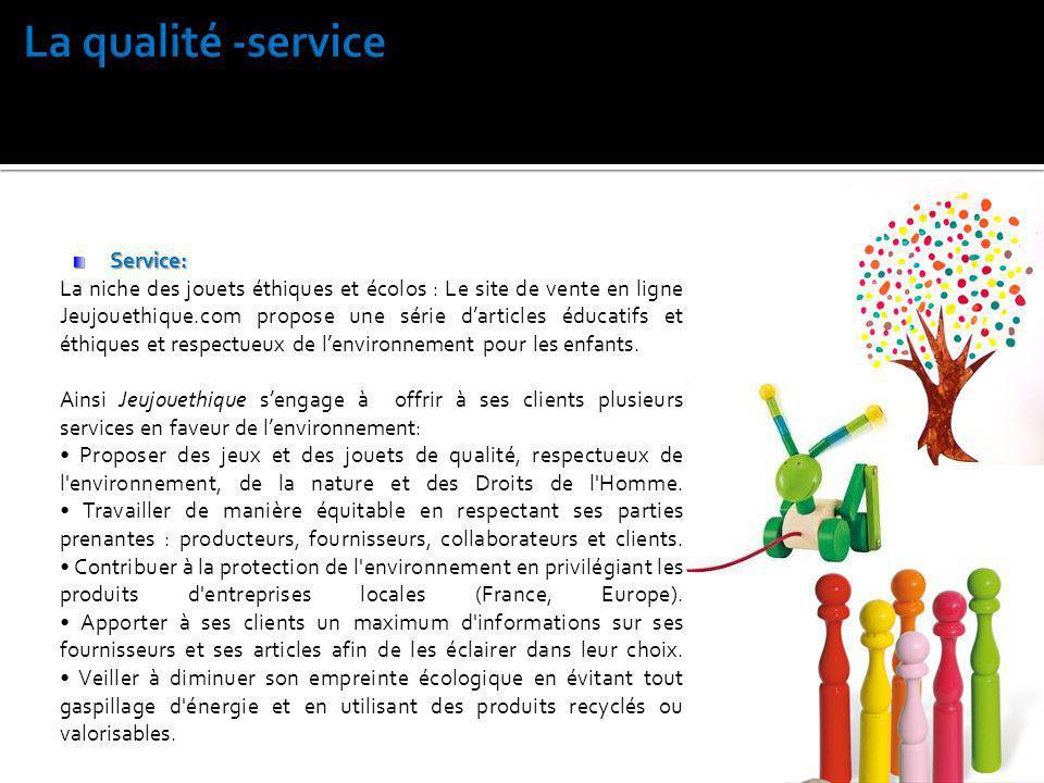 La qualité -service Service:
