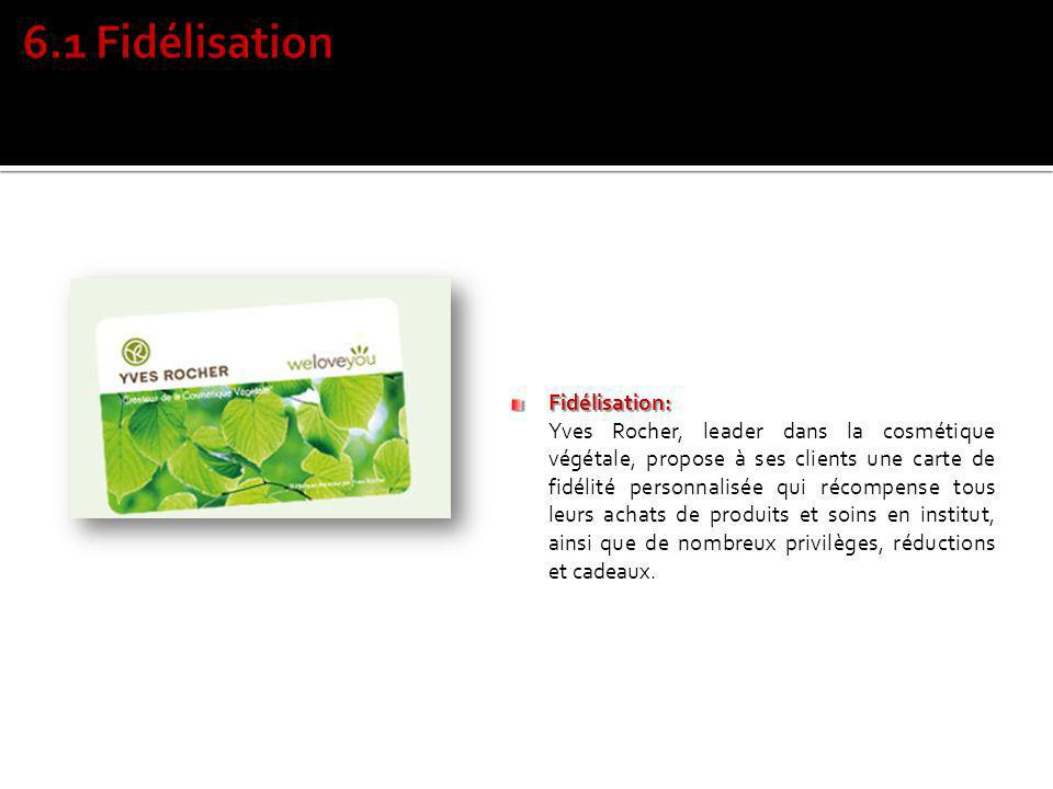 6.1 Fidélisation Fidélisation: