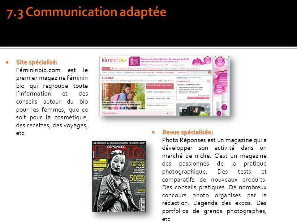7.3 Communication adaptée