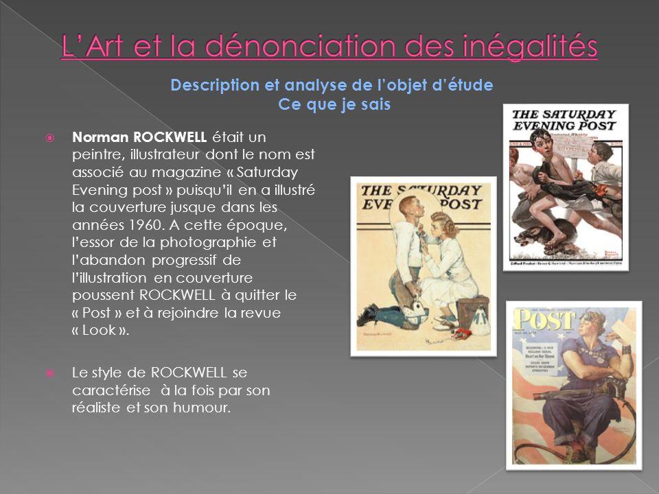 L'Art et la dénonciation des inégalités