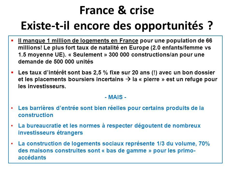 France & crise Existe-t-il encore des opportunités