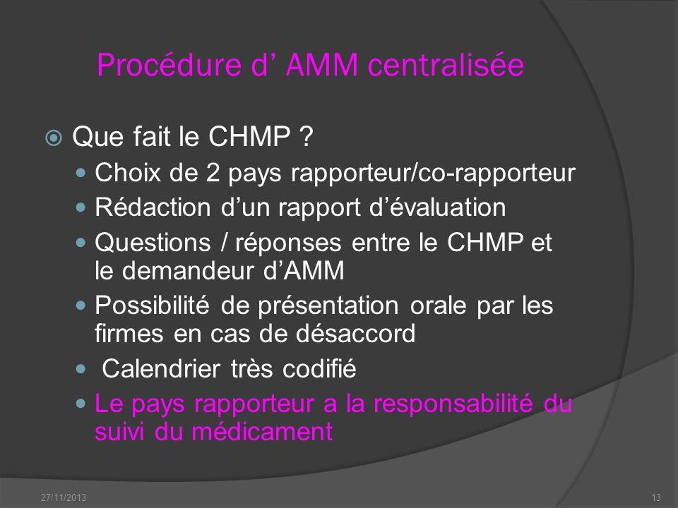 Procédure d' AMM centralisée