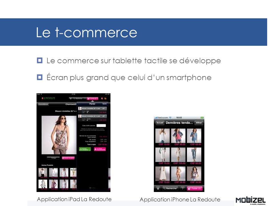 Le t-commerce Le commerce sur tablette tactile se développe