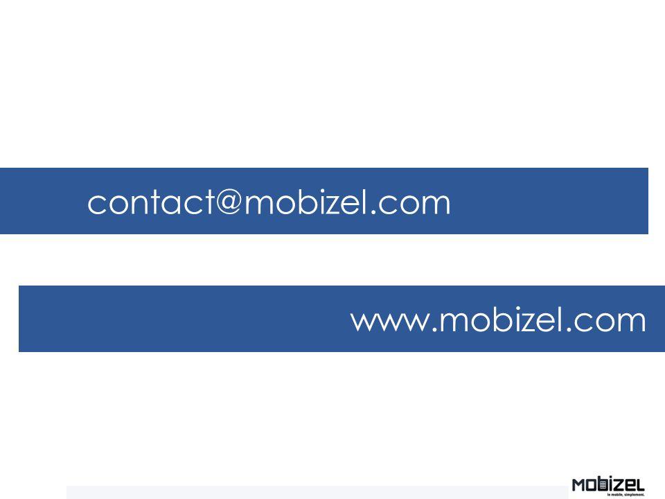 contact@mobizel.com www.mobizel.com Des questions