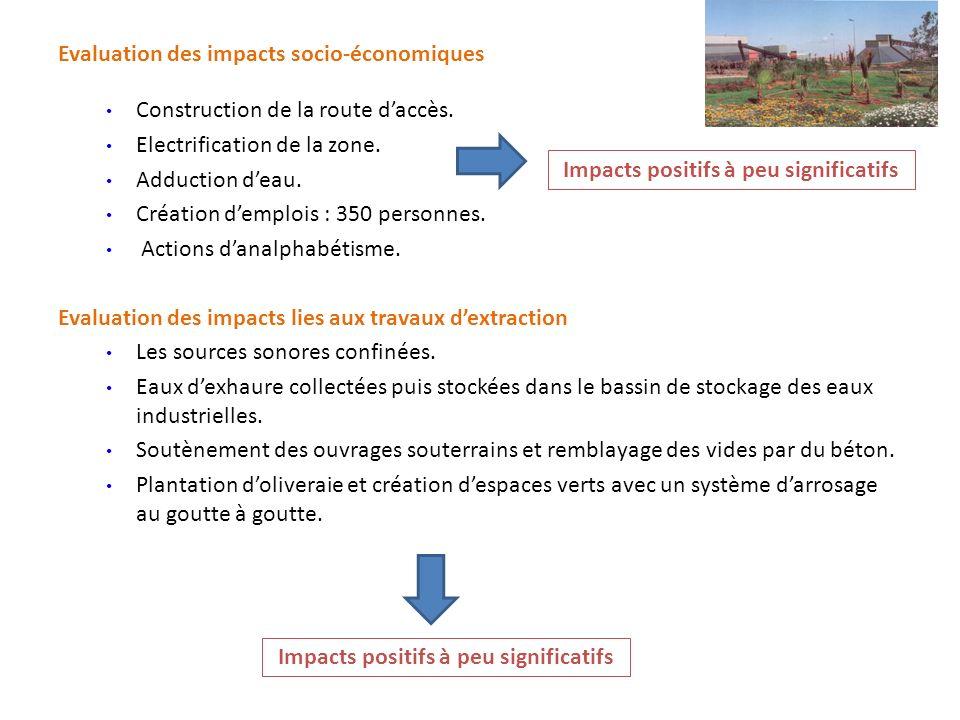 Evaluation des impacts socio-économiques