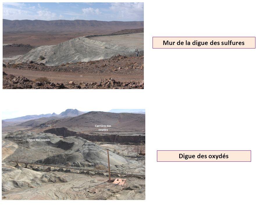 Mur de la digue des sulfures