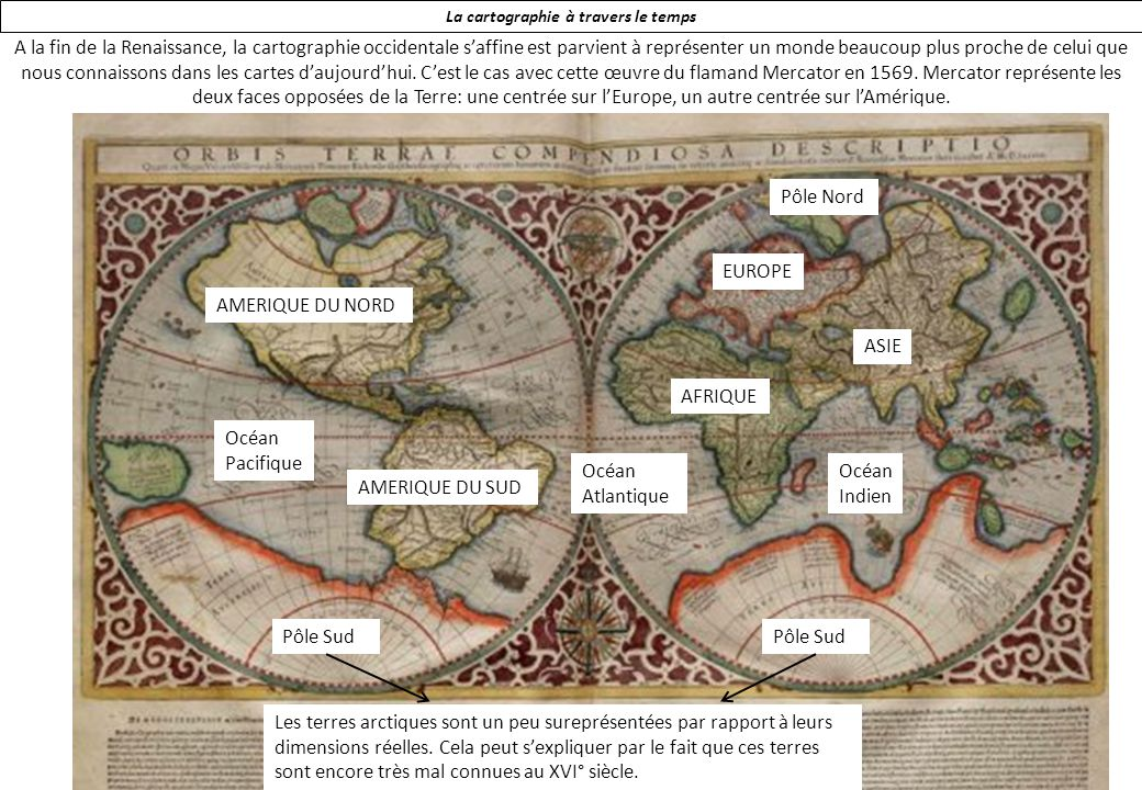 La cartographie à travers le temps