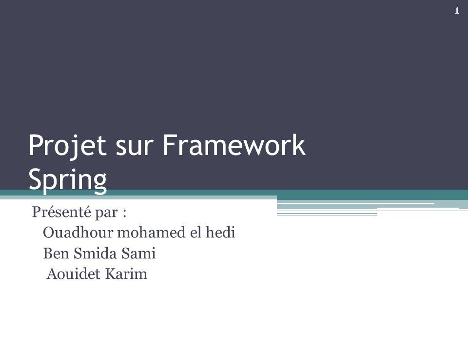 Projet sur Framework Spring