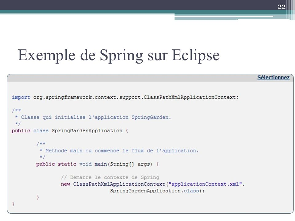 Exemple de Spring sur Eclipse