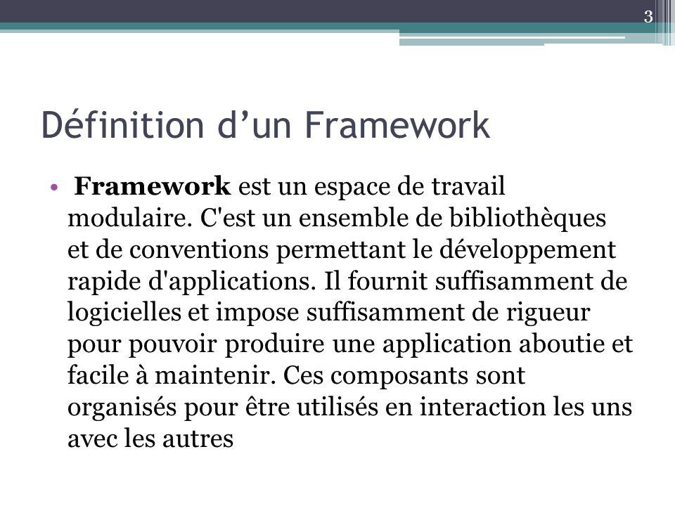 Définition d'un Framework