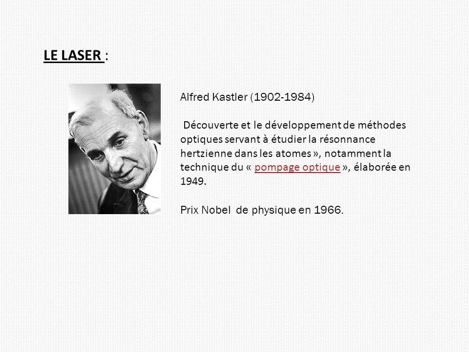 LE LASER : Alfred Kastler (1902-1984)