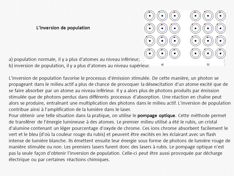 L inversion de population
