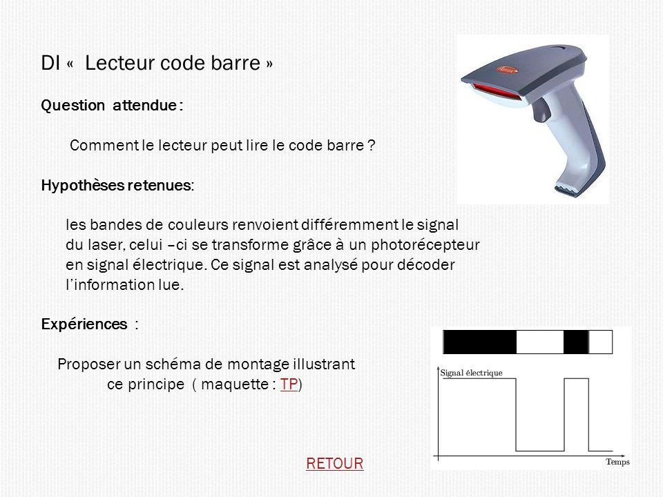 DI « Lecteur code barre »