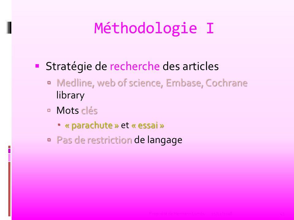 Méthodologie I Stratégie de recherche des articles