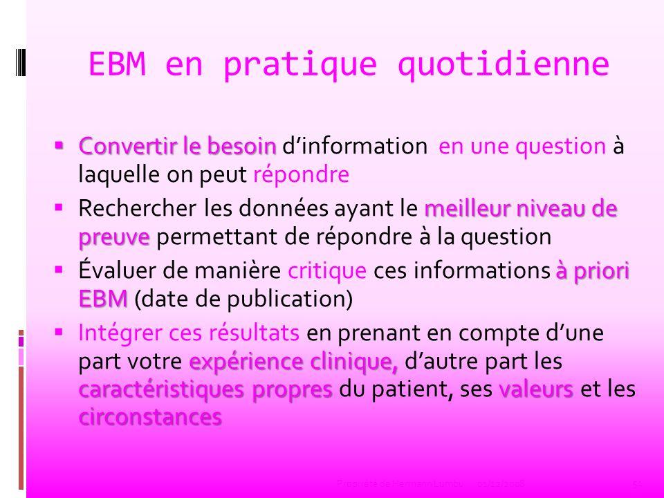 EBM en pratique quotidienne